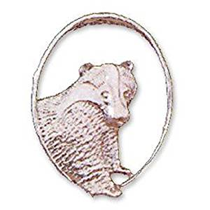 silver badger (oval)
